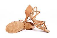 Туфли для бальных танцев Rivage Line ZZ 117-5 5 см золото, сатин