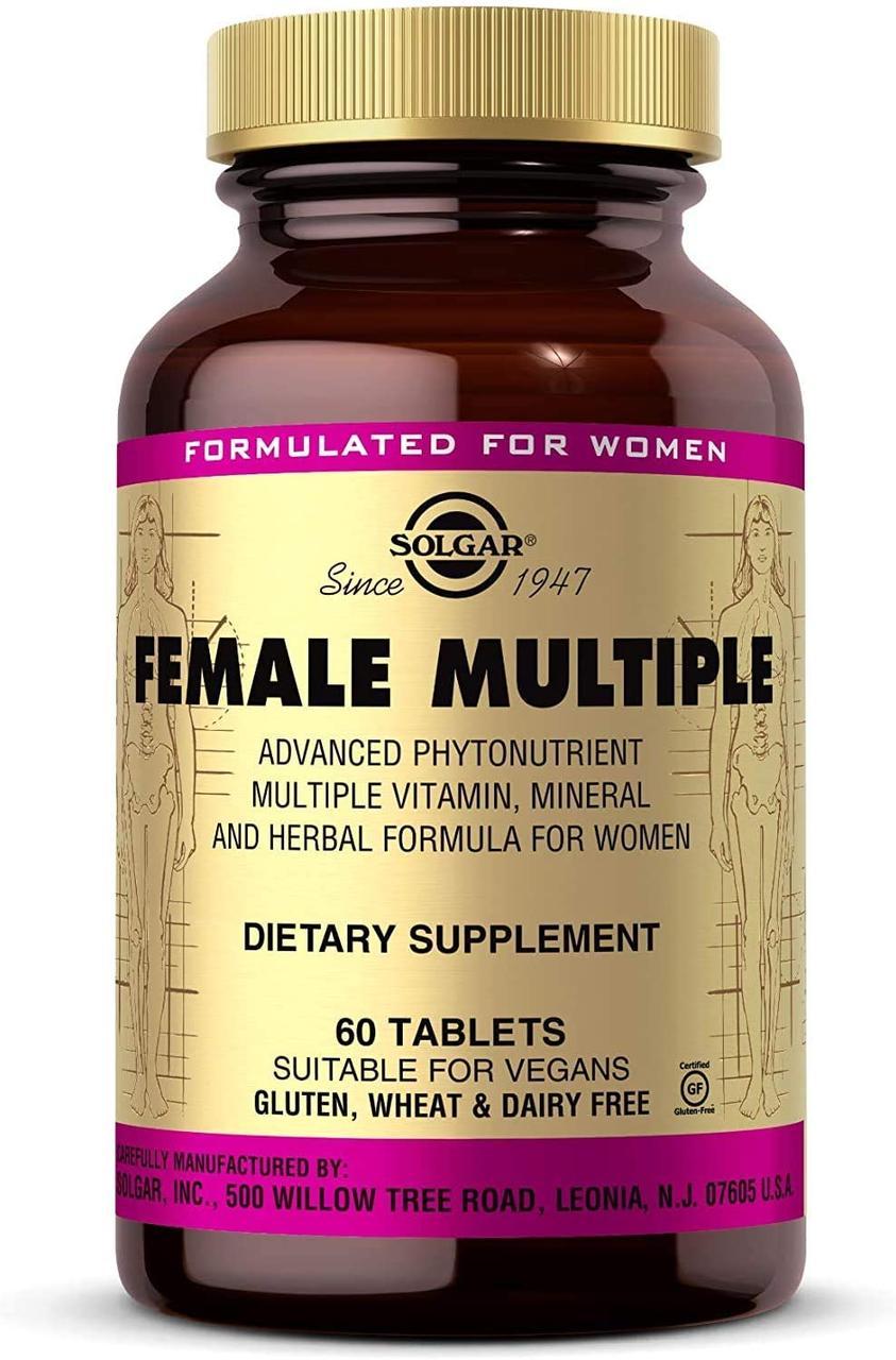 Мультивитамины и минералы для женщин, Solgar, 60 таблеток. Сделано в США.