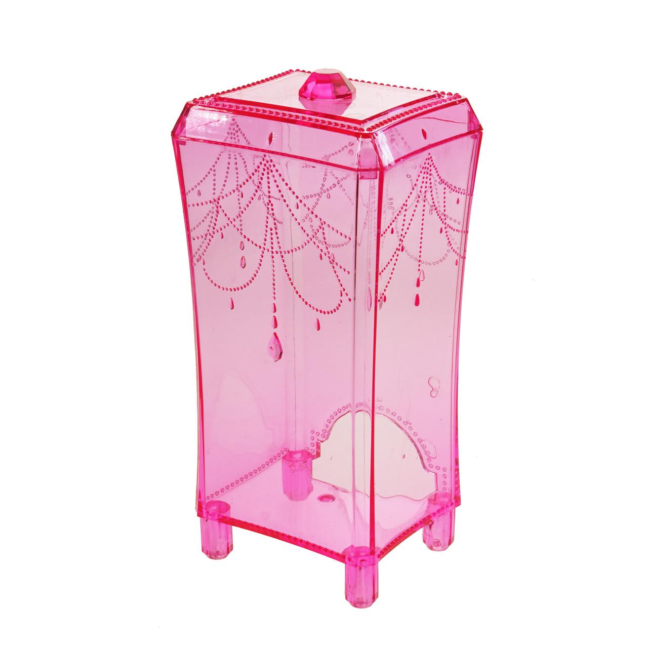 Органайзер для ватяних дисків, яскраво-рожевий
