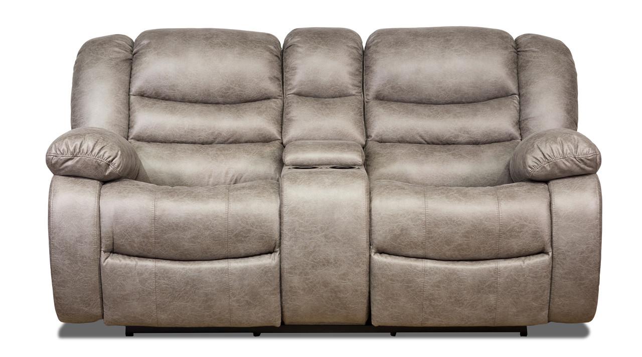Двухместный диван реклайнер Манхэттен с баром