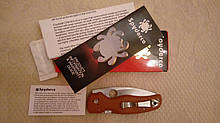 Складной нож Spyderco Shaman REX 45,Burnt Orange C229GPBORE