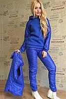 Женский зимний костюм тройка электрик, фото 1