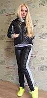 Женский зимний костюм тройка черный