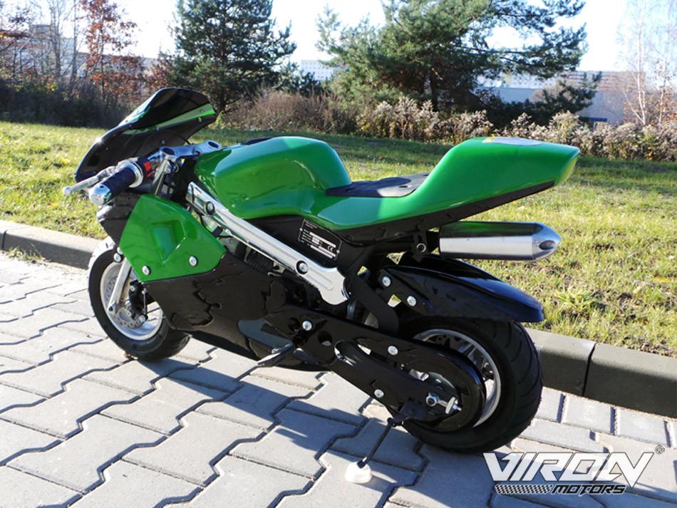 Детский бензиновый мотоцикл viron pocket bike: 49cc, 55 км/ч ZC410