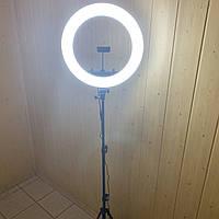 Кольцевая лампа 45 см HQ 18 со штативом на 2м для телефона селфи кольцо световое светодиодное led блогеров