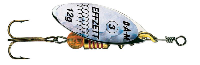 Блесна-вертушка DAM Effzett Predator 4гр (silver/glitter)