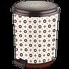 Ведро для мусора с педалью 17л Elif-366 Луи Виттон, фото 2