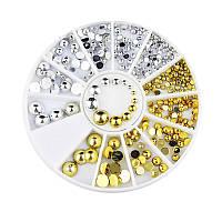 Заклёпки пластиковые, цвет золото, серебро