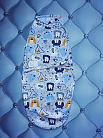 Пеленка-кокон, европеленка для новорожденных Мишутки, трикотаж, на липучке