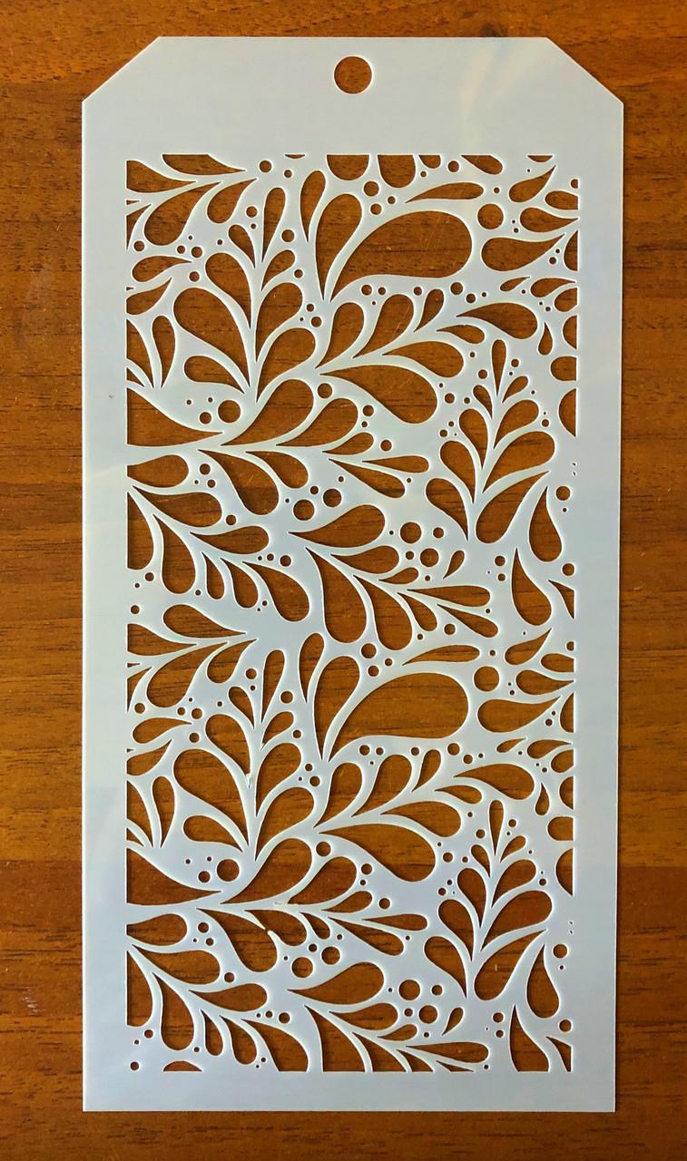 Трафарет многоразовый пластик 103 теснение штамп на стены шаблон Завитки узоры для скрапбукинга 120*240 мм