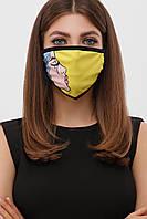 Модная тканевая защитная маска многоразовая с модным принтом