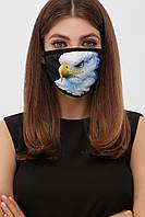 Защитная многоразовая маска принт орел