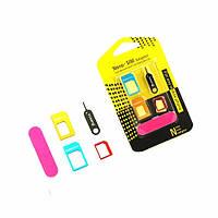 Набор адаптеров SIM-карты NanoSim, MicroSim, sim card adapter