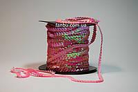 Декоративная розовая тесьма с пайетками(ширина 6мм)
