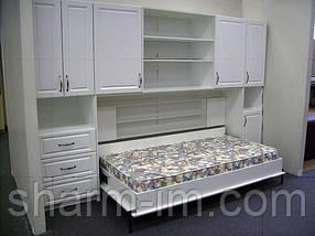 Ножки для шкаф-кровати поворотно-откидные, черные, фото 2
