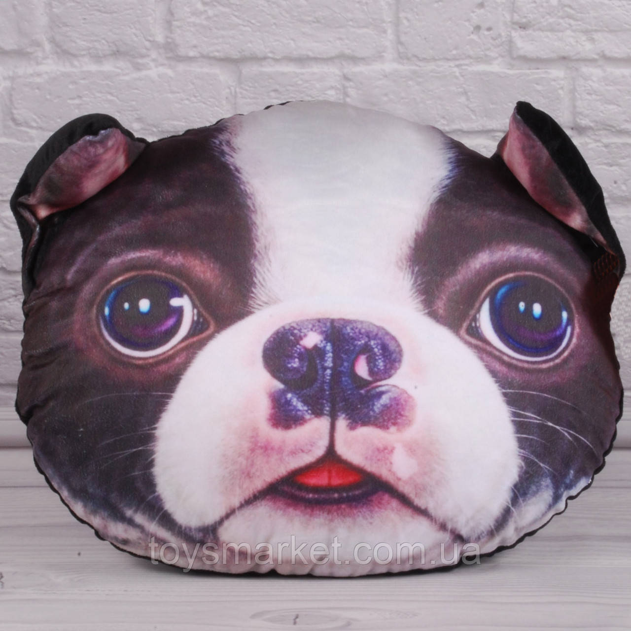 "Мягкая игрушка подушка собака ""Милашка"", плюшевая подушка собачка 35 см."