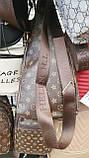 Брендовые сумки-барсетки через 1 плечо Louis Vitton (КАШТАН)18*31см, фото 2