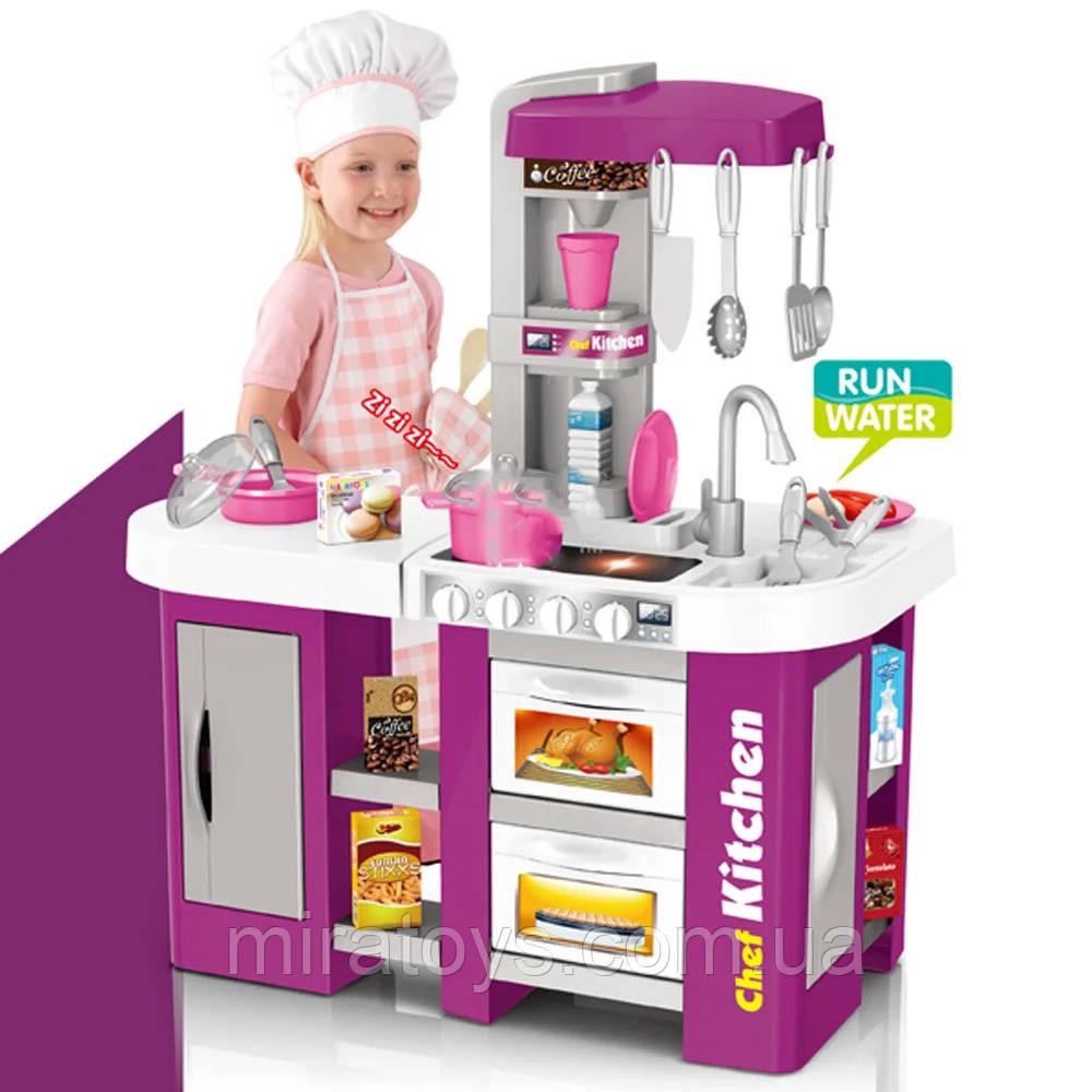 Большая детская кухня 922-47 вода, духовка, холодильник, свет, звук, посуда