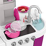 Большая детская кухня 922-47 вода, духовка, холодильник, свет, звук, посуда, фото 3