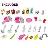 Большая детская кухня 922-47 вода, духовка, холодильник, свет, звук, посуда, фото 8