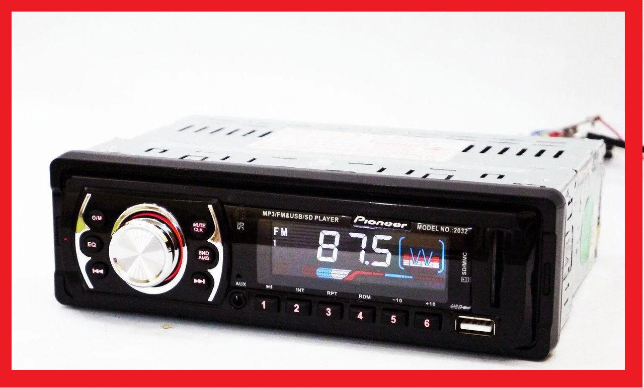 Автомагнитола Pioneer 2015 - MP3+Usb+Sd+Fm+Aux+ пульт (4x50W)