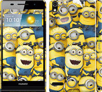 "Чехол на Huawei Ascend P6 Миньоны 8 ""860c-39"""