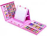 Набір для малювання валізу 208 предметів Колір рожевий, фото 2