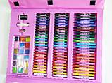 Набір для малювання валізу 208 предметів Колір рожевий, фото 9