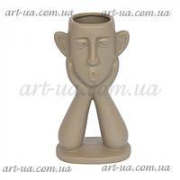 """Інтер'єрна ваза для декору у формі голови """"Geo"""" ваза для декору, інтер'єрна ваза голова, фото 1"""