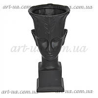 """Інтер'єрна ваза для декору у формі голови """"Cup"""" 31см, ваза для декору, інтер'єрна ваза голова, фото 1"""