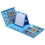 Набір для малювання валізу 208 предметів Колір синій, фото 6