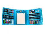 Набір для малювання валізу 208 предметів Колір синій, фото 7