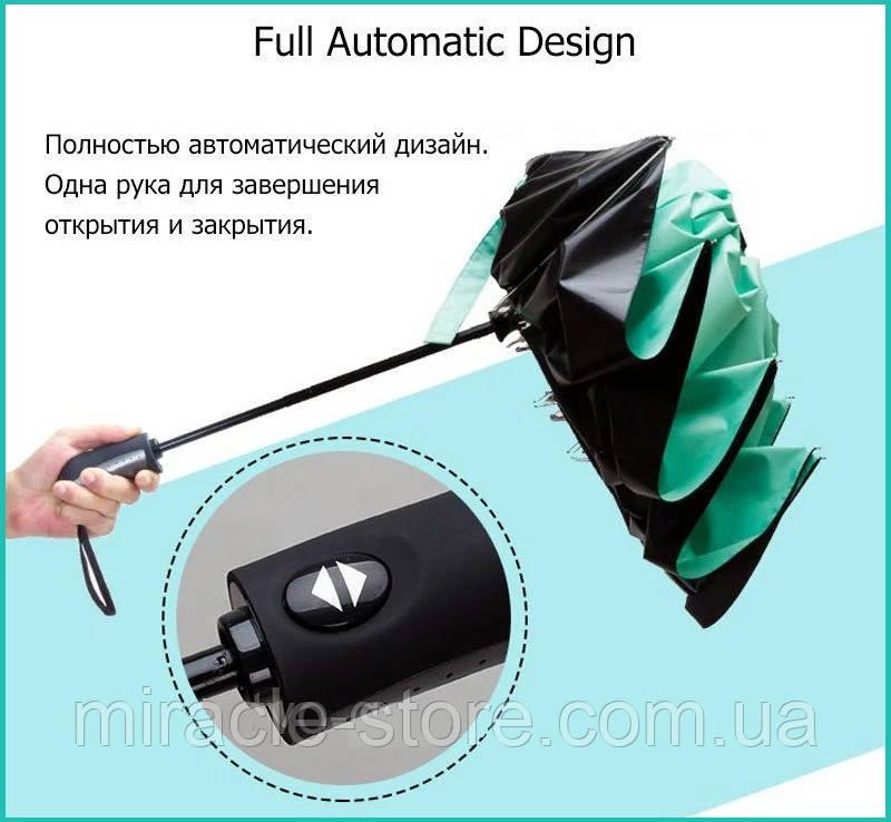 Зворотний вітрозахисний парасолька Wonderdry Compact Umbrella розумний парасолька навпаки