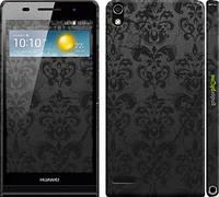 """Чехол на Huawei Ascend P6 узор черный """"1612c-39"""""""