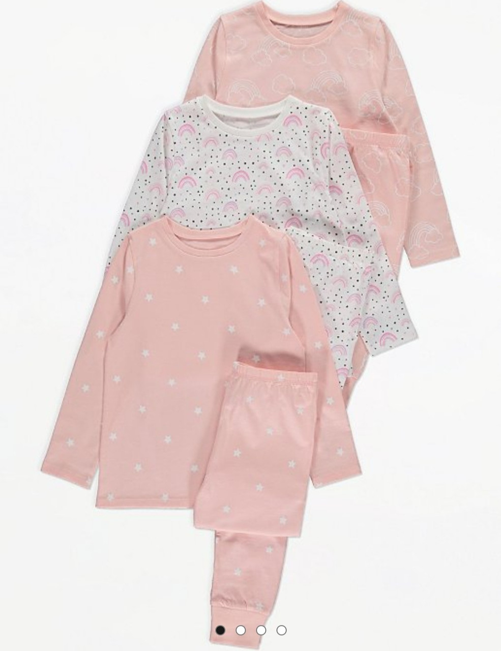 "Пижама для девочки ""Радуга"" George (Англия) р.140/146, 146/152, 158/164см"