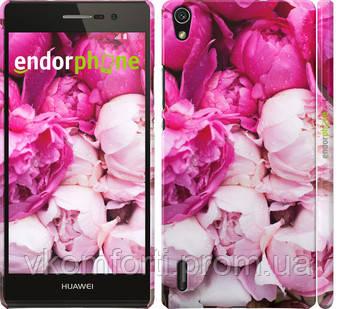 "Чехол на Huawei Ascend P7 Розовые пионы ""2747c-49"""