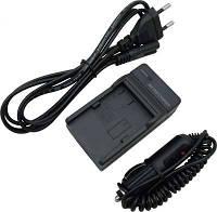 Зарядное устройство + автомобильный адаптер для LEICA C (акб DMW-BCM13, DMW-BCL7E, BP-DC14, AHDBT-301)