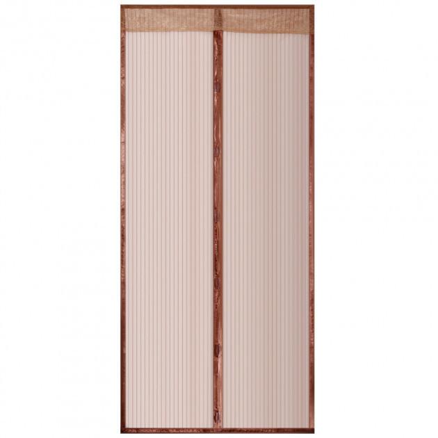 Магнитная Антимоскитная сетка 170х230 см коричневая