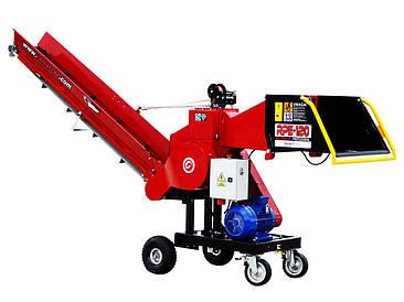 Измельчитель веток Remet RPE-120+транспортер 2,3 (100 мм, 6 ножей, 11 кВт)