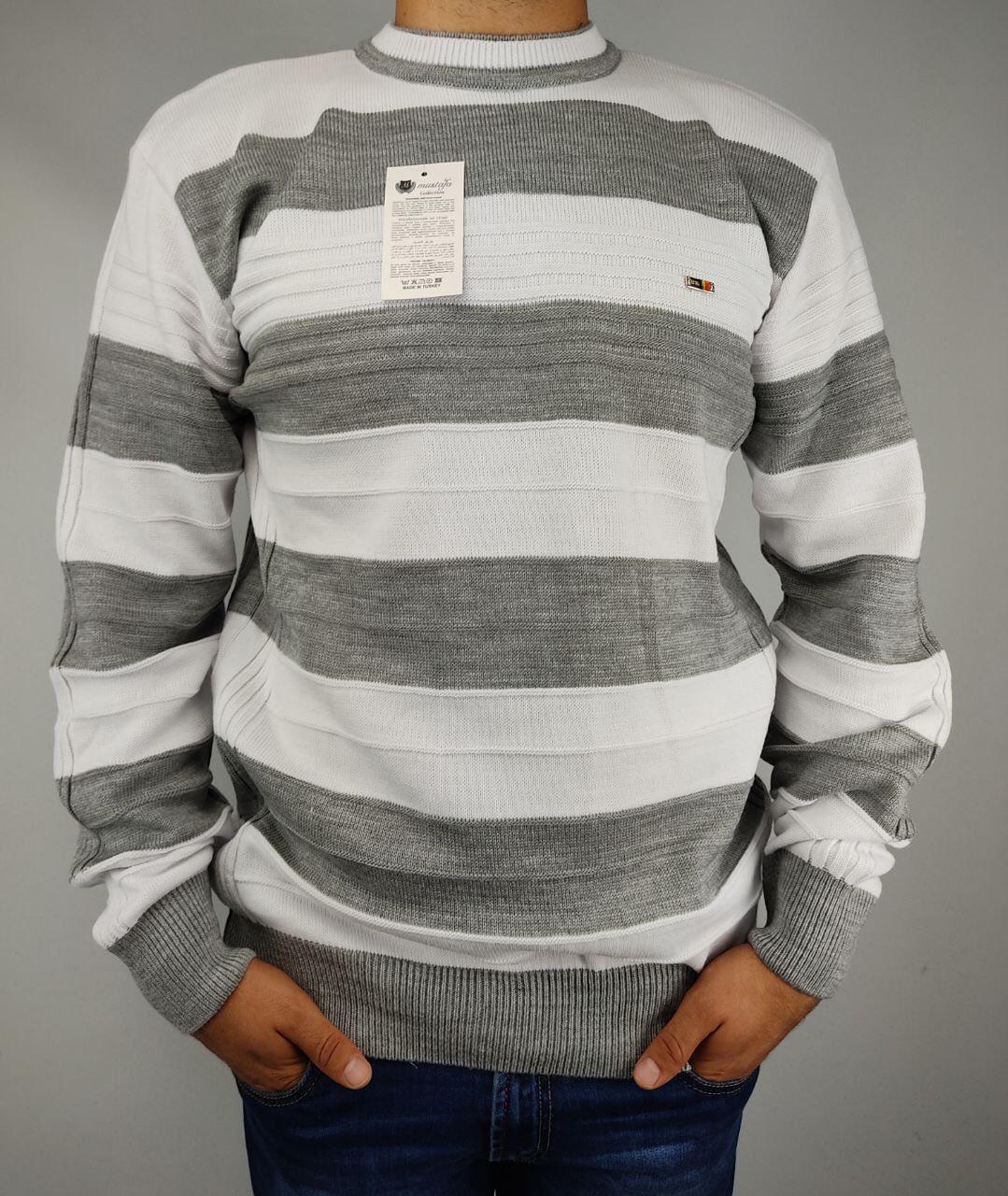Джемпер мужской батал JM0271 разные цвета, шерсть акрил,  56-60