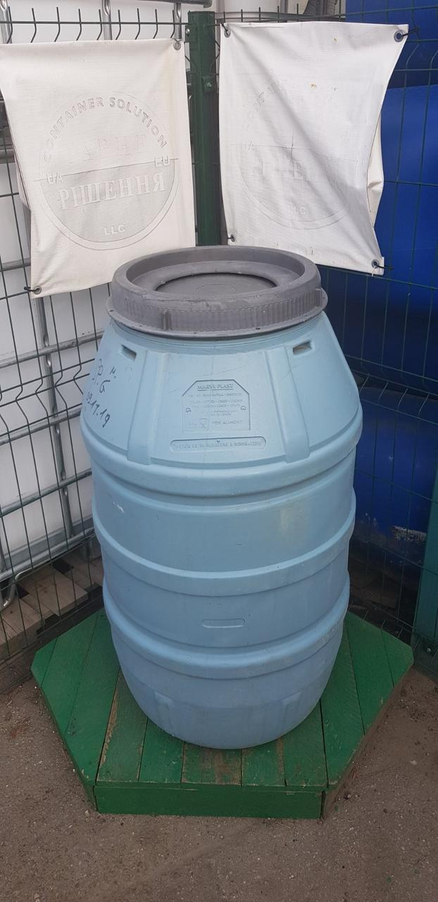 0245-21/1: С доставкой в Мариуполь ✦ Бочка (220 л.) б/у пластиковая