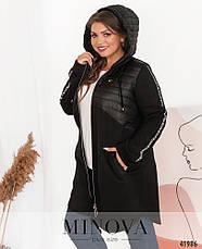 Куртка женская демисезонная стильная размеры: 50-64, фото 2