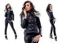 Женский теплый костюм черный