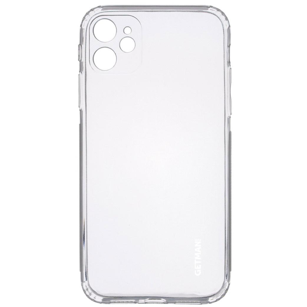 "TPU чехол GETMAN Clear 1,0 mm для Apple iPhone 11 (6.1"")"