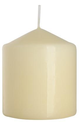 Свеча цилиндр кремовя Bispol 9 см (sw80/90-011)
