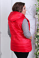 Женская синтепоновая жилетка Большой размер, фото 7
