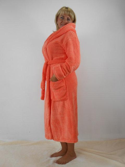 Удобные однотонные халаты для женщин Большого размера