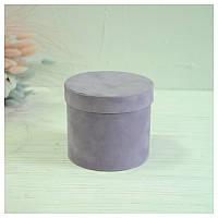 Бархатная круглая коробка d=11 h=10 см оптом, фото 1