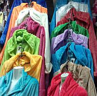 Женские теплые махровые халаты со склада, фото 2