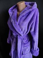 Женский халат на запах зимний Большого размера